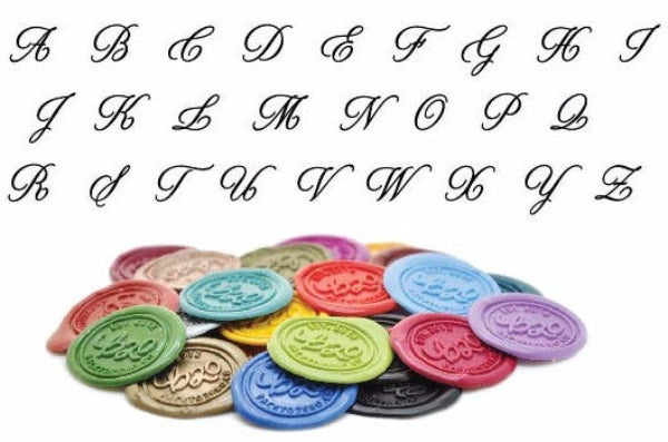 Calligraphy Initial Wax Seal Stamp | Available in 4 Sizes - Wax Seal Stamp - Backtozero