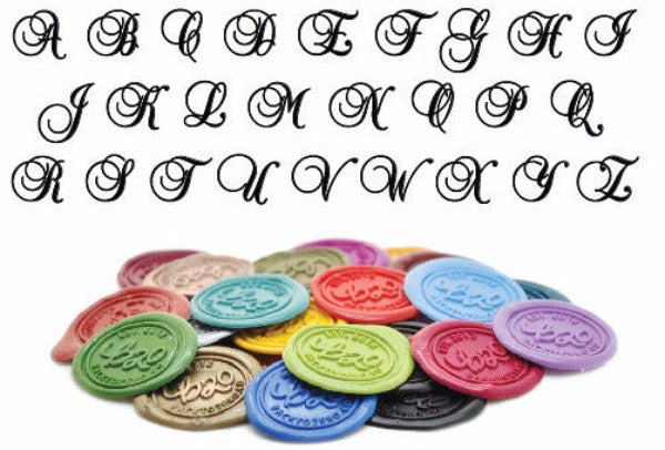 Initial Monogram Wax Seal Stamp | Available in 4 Sizes, Backtozero  - 3