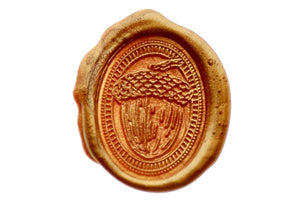 Acorn Portrait Wax Seal Stamp - Wax Seal Stamp - Backtozero