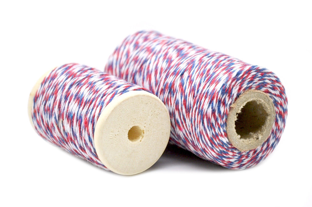 Red/Blue/White Baker's Twine, Backtozero  - 1