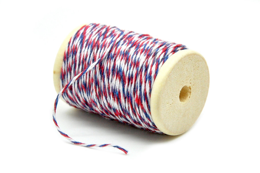 Red/Blue/White Baker's Twine, Backtozero  - 2
