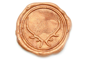 Antler Wax Seal Stamp - Wax Seal Stamp - Backtozero