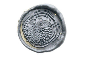 Blowfish Portrait Wax Seal Stamp - Backtozero