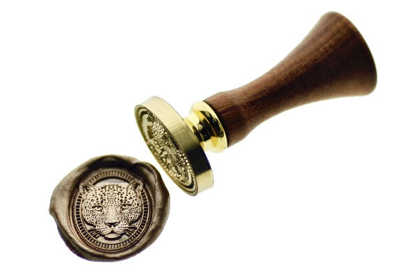 Jaguar Portrait Wax Seal Stamp - Wax Seal Stamp - Backtozero