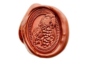 Parrot Portrait Wax Seal Stamp - Wax Seal Stamp - Backtozero
