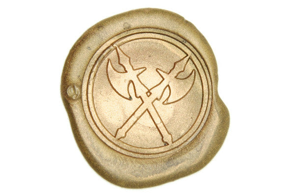 Crossed Axe Wax Seal Stamp - Wax Seal Stamp - Backtozero