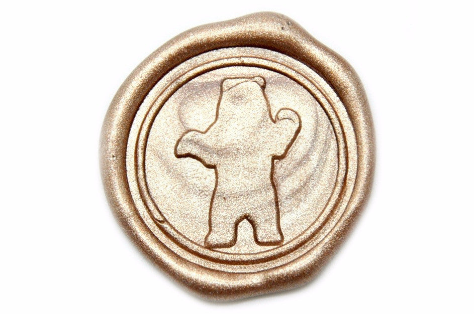 Bear Wax Seal Stamp | Available in 4 Sizes, Backtozero  - 1