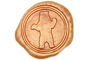 Bear Wax Seal Stamp - Wax Seal Stamp - Backtozero