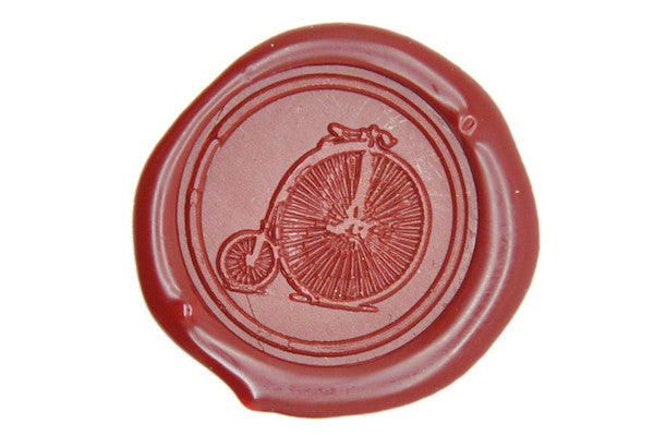 Old Bike Wax Seal Stamp, Backtozero  - 1