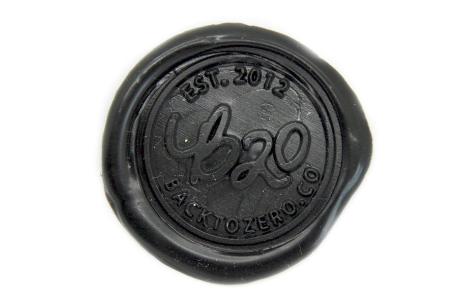 Black Non-Wick Fleur Sealing Wax Stick - Sealing Wax - Backtozero