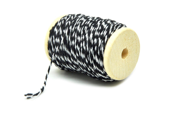 Black/White Baker's Twine - Twine - Backtozero