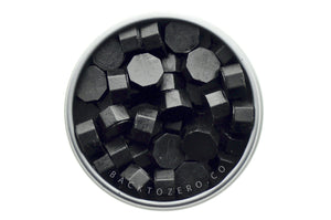 Black Octagon Sealing Wax Beads - Backtozero