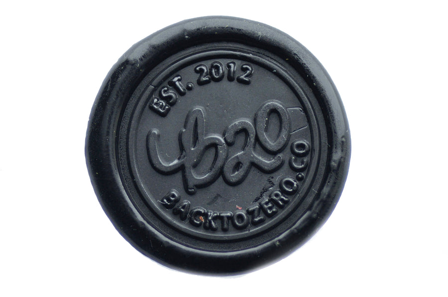 Black Filigree Non-Wick Sealing Wax Stick - Backtozero