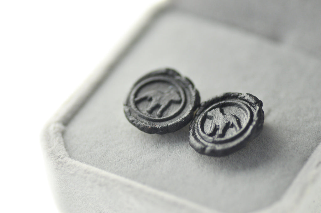 OOAK Pitbull Wax Seal Earrings