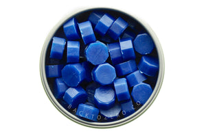Blue Octagon Sealing Wax Beads - Backtozero