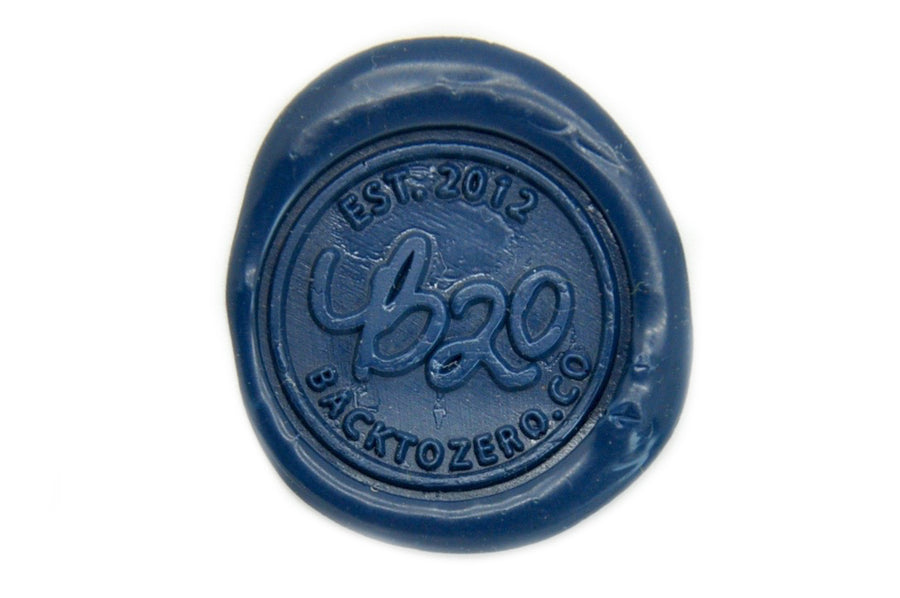 Blue Wick Sealing Wax Stick - Sealing Wax - Backtozero