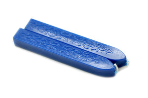 Blue Filigree Wick Sealing Wax Stick - Backtozero