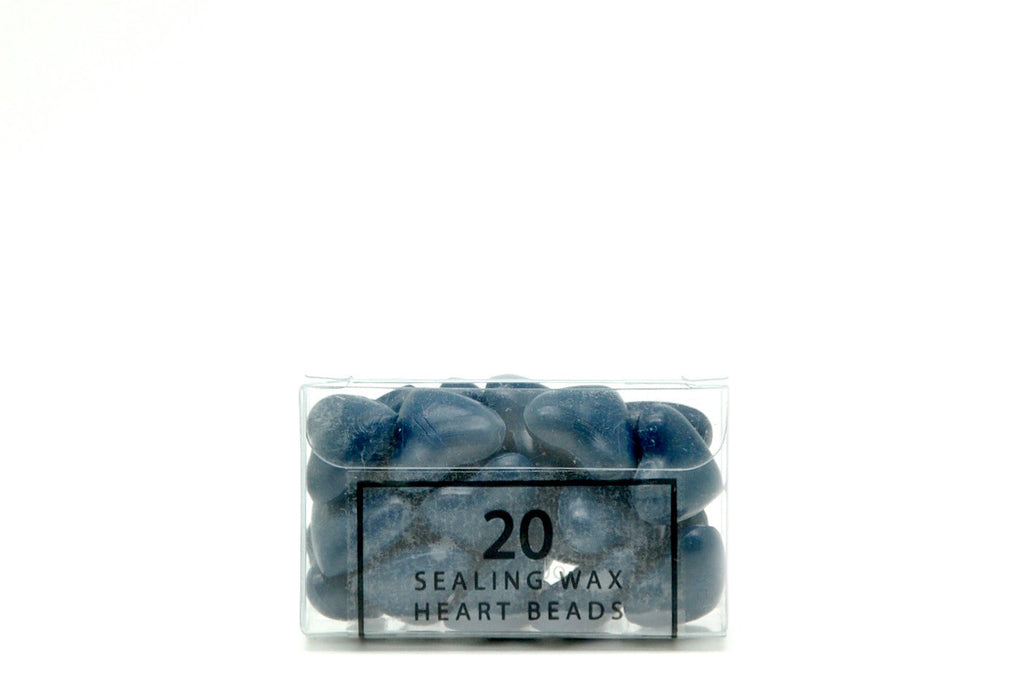 Blue Sealing Wax Heart Bead - Sealing Wax - Backtozero