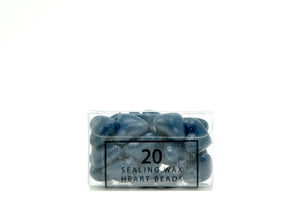 Blue Sealing Wax Heart Bead - Backtozero