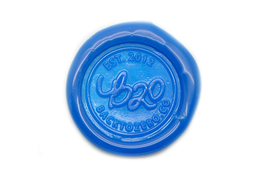Blue Octagon Sealing Wax Beads - Sealing Wax - Backtozero