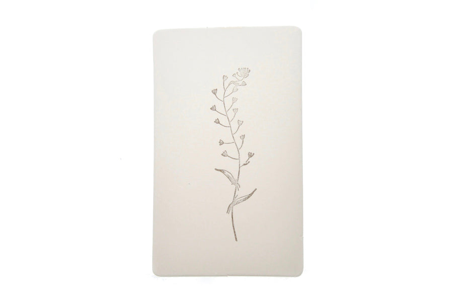 Botanical Rubber Stamp | G - Rubber Stamp - Backtozero
