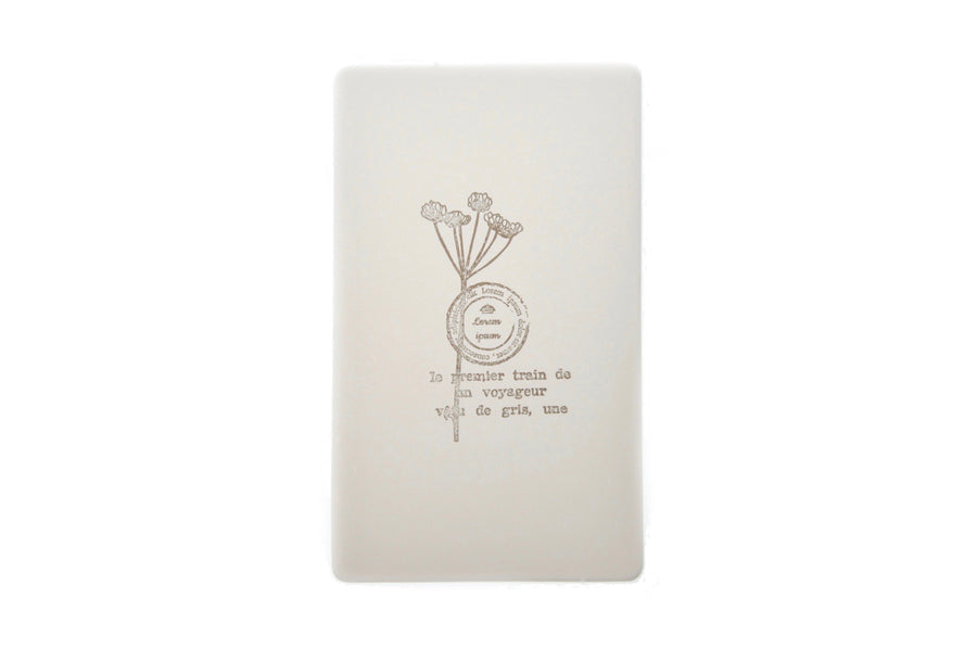 Botanical Words Rubber Stamp | C - Rubber Stamp - Backtozero