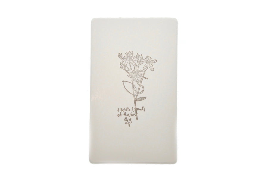 Botanical Words Rubber Stamp | D - Rubber Stamp - Backtozero