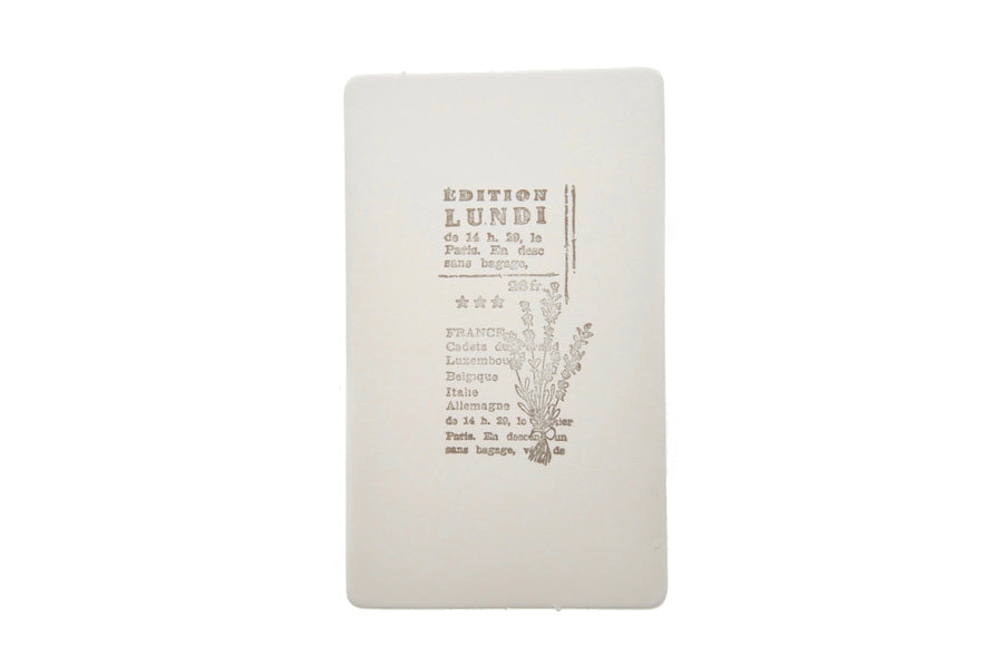 Botanical Words Rubber Stamp | E - Rubber Stamp - Backtozero