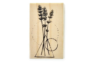 Flower Rubber Stamp | B - Rubber Stamp - Backtozero