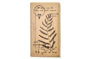 Botanical Words Rubber Stamp | F - Rubber Stamp - Backtozero