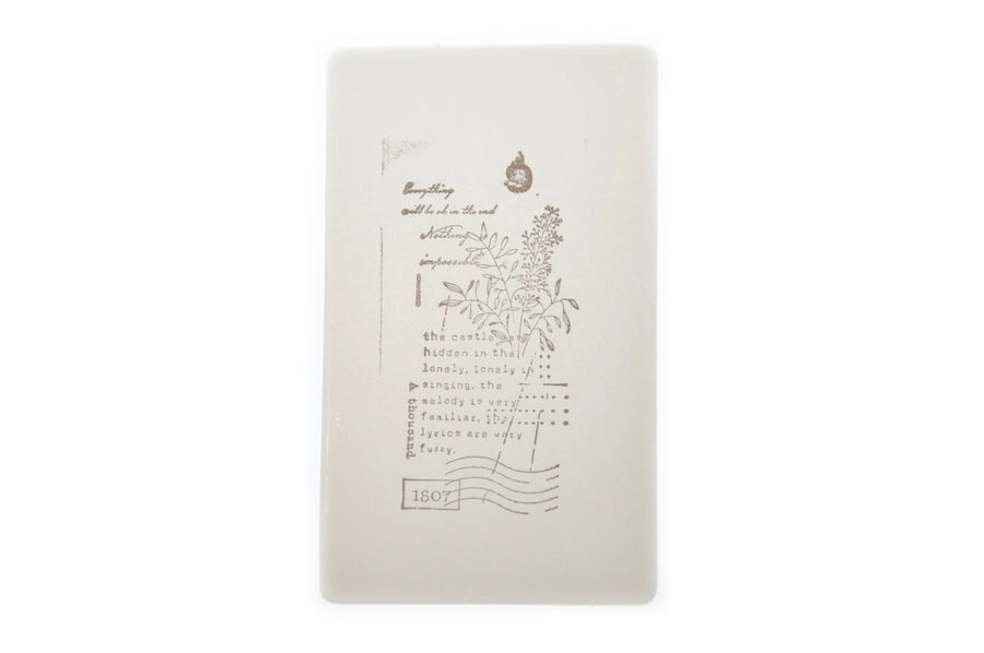 Botanical Words Rubber Stamp | G - Rubber Stamp - Backtozero