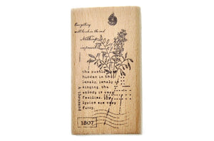 Botanical Words Rubber Stamp | B - Rubber Stamp - Backtozero
