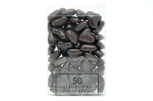 Brown Sealing Wax Heart Bead - Sealing Wax - Backtozero