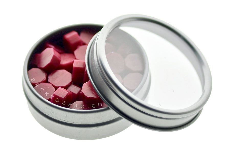 Burgundy Octagon Sealing Wax Beads - Sealing Wax - Backtozero