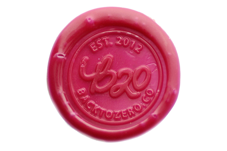 Burgundy Filigree Wick Sealing Wax Stick - Sealing Wax - Backtozero