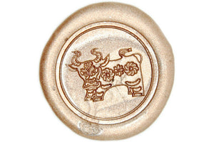 Chinese Zodiac Ox Wax Seal Stamp - Wax Seal Stamp - Backtozero