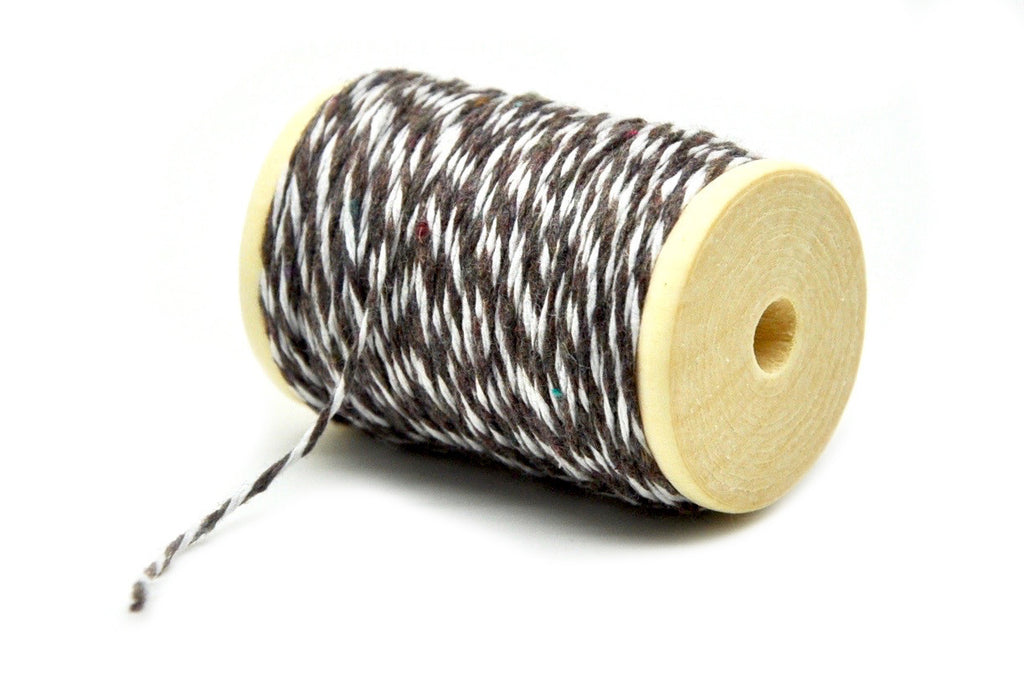 Chocolate Brown/White Baker's Twine - Twine - Backtozero