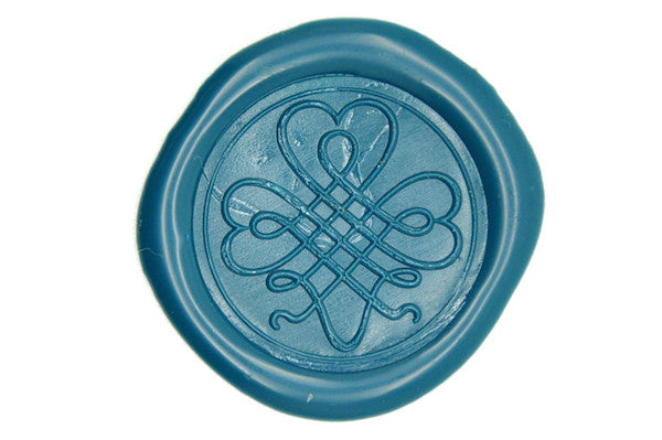 Shamrock Clover Wax Seal Stamp, Backtozero  - 1