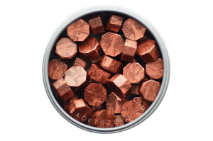 Copper Red Octagon Sealing Wax Beads - Sealing Wax - Backtozero