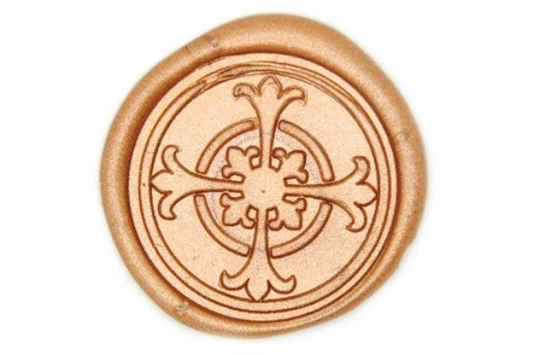 Decorative Cross Wax Seal Stamp, Backtozero  - 1