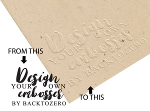 Design Your Own Custom Embosser Stamp - Backtozero