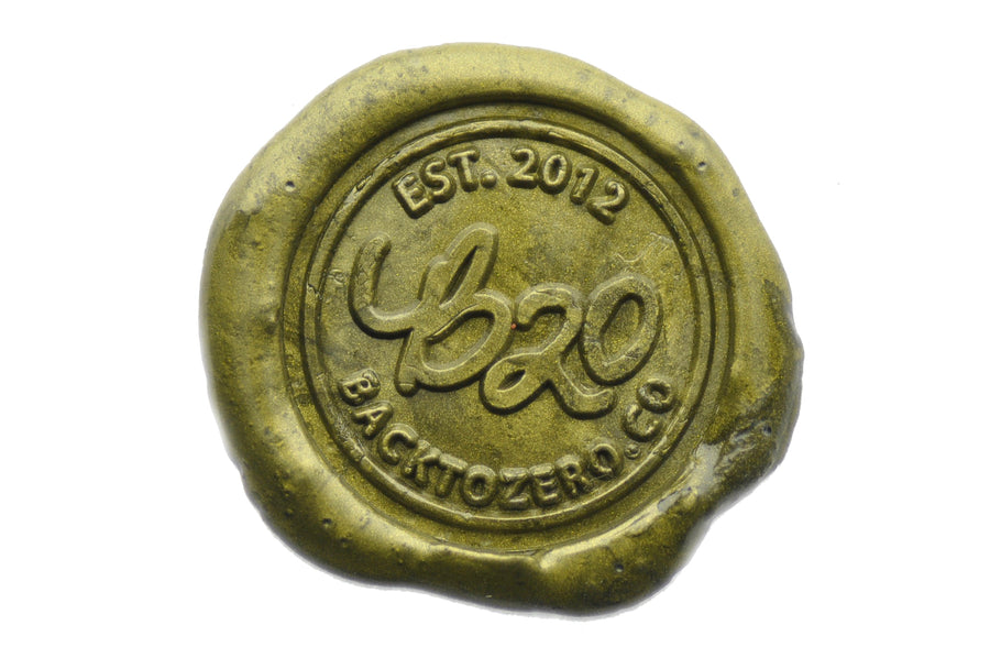 Dark Gold Filigree Wick Sealing Wax Stick - Sealing Wax - Backtozero