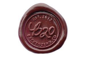 Dark Red Non-Wick Filigree Sealing Wax Stick - Sealing Wax - Backtozero