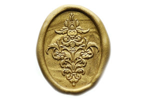 Decorative Floral Wax Seal Stamp - Wax Seal Stamp - Backtozero