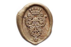 Decorative Crown Wax Seal Stamp - Wax Seal Stamp - Backtozero