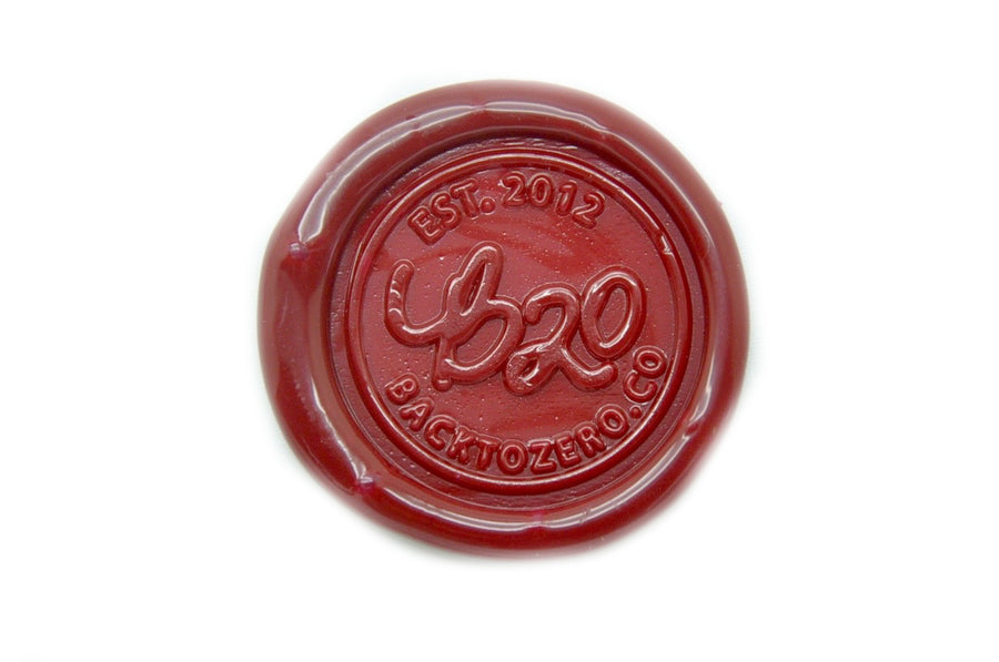 Deep Red Octagon Sealing Wax Beads - Backtozero