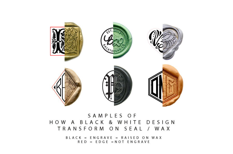 Design Your Own Custom Wax Seal Stamp | Available in 15 Sizes - Wax Seal Stamp - Backtozero