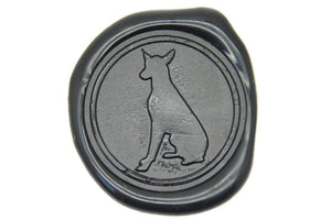 Doberman Wax Seal Stamp - Wax Seal Stamp - Backtozero