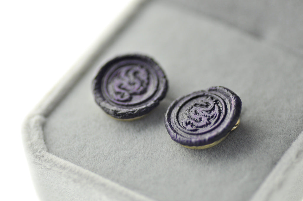 OOAK Dragon Wax Seal Earrings