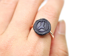 OOAK Hummingbird Wax Seal Ring - Wax Seal Ring - Backtozero